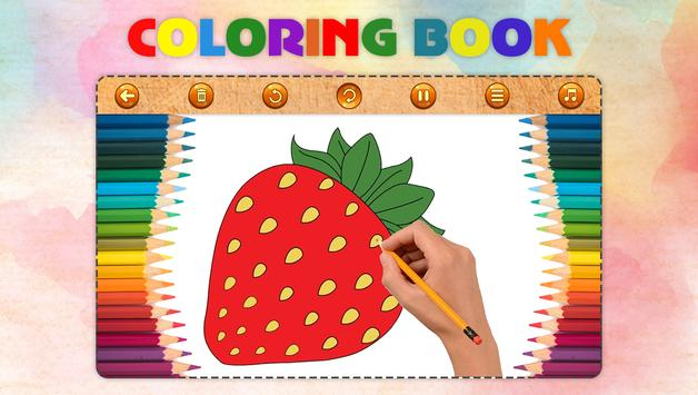 Fruits Vegetables Coloring Book Game screenshot 2
