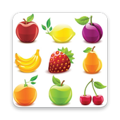 Fruits and Vegetables Name for Kids (Audio) icon
