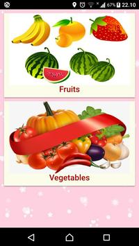 Fruits and Vegetables Name for Kids (Audio) poster