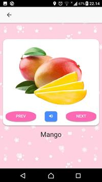 Fruits and Vegetables Name for Kids (Audio) screenshot 1