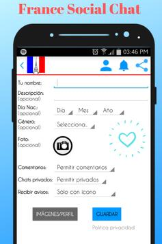 France Social Chat - Meet and Chat with singles screenshot 1