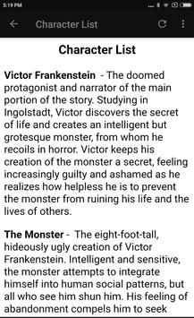 FRANKENSTEIN + STUDY GUIDE screenshot 14