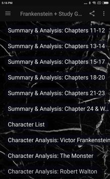 FRANKENSTEIN + STUDY GUIDE screenshot 2