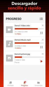 Descargador de vídeos gratis captura de pantalla 1