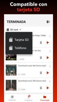 Descargador de vídeos gratis captura de pantalla 2