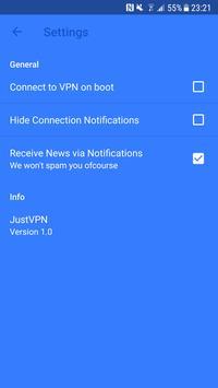 JustVPN स्क्रीनशॉट 6