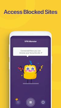 Unlimited Free VPN Monster - Fast Secure VPN Proxy screenshot 2