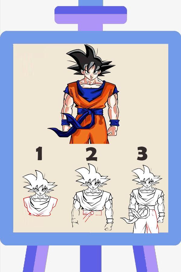 How To Draw Goku Super Saiyan For Android Apk Download