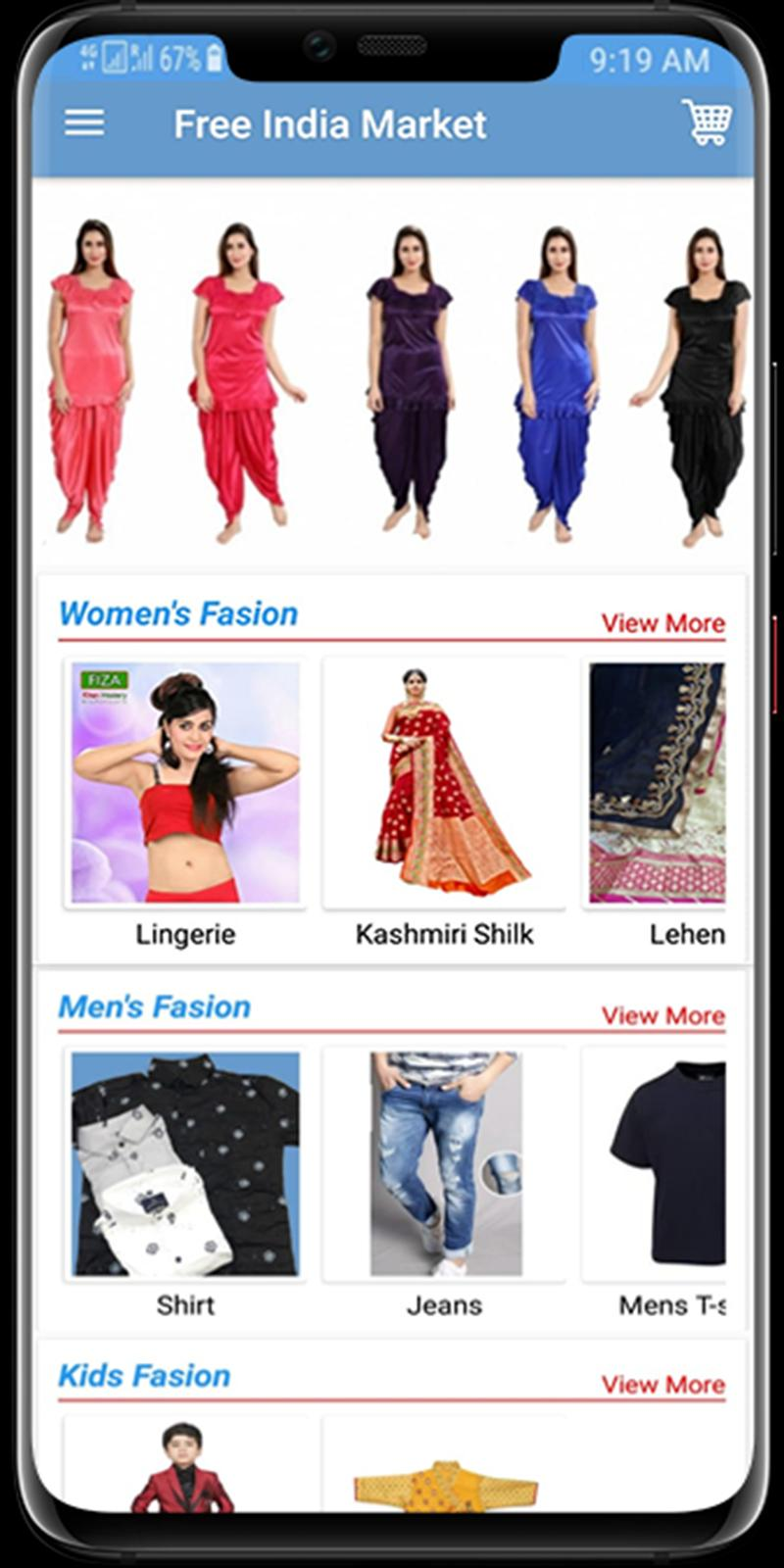 Fim Free India Market Online Shopping Application For Android Apk Download