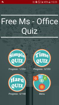 Free Ms - Office Test Quiz poster