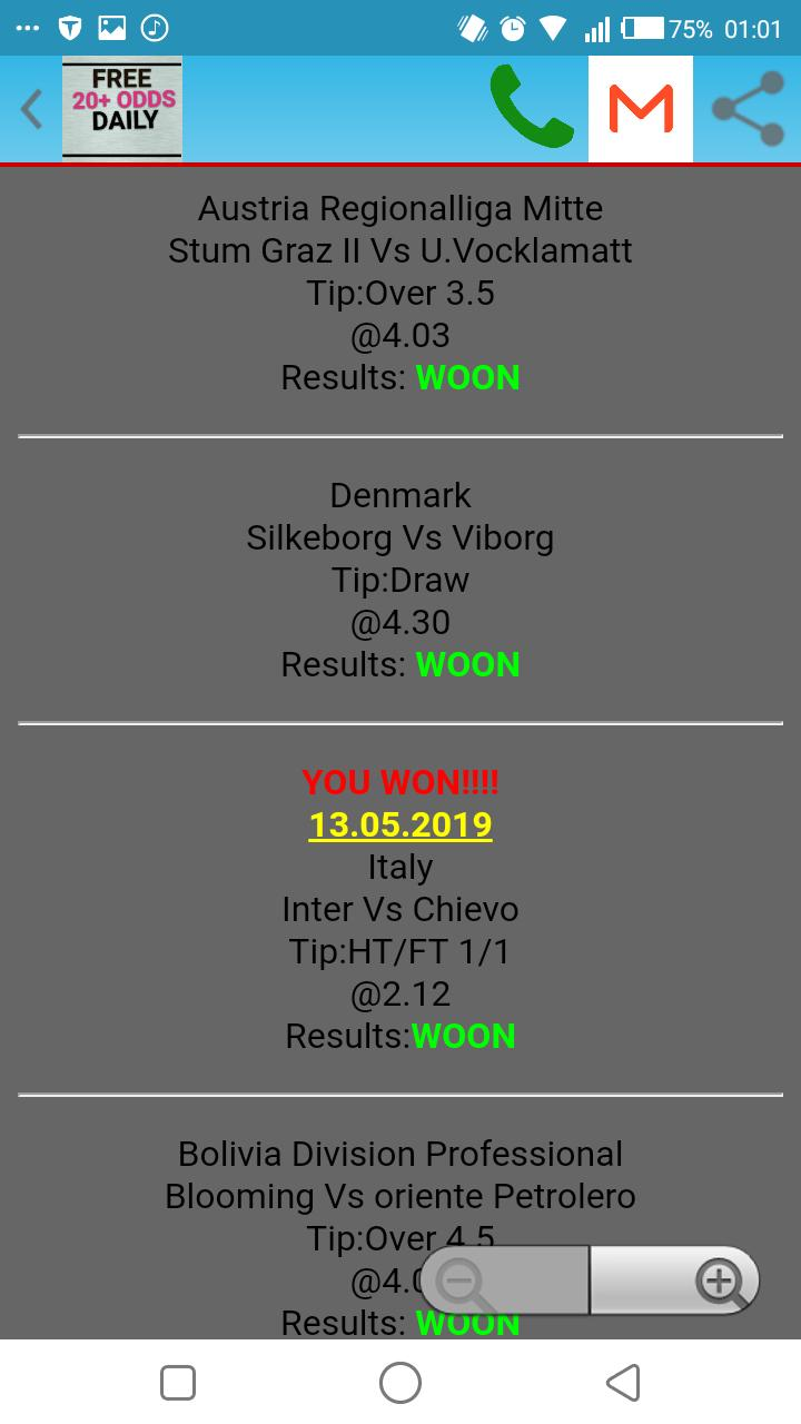 FREE 20+ ODDS DAILY for Android - APK Download