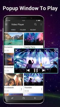 Video Player Todos los formatos para Android captura de pantalla 1