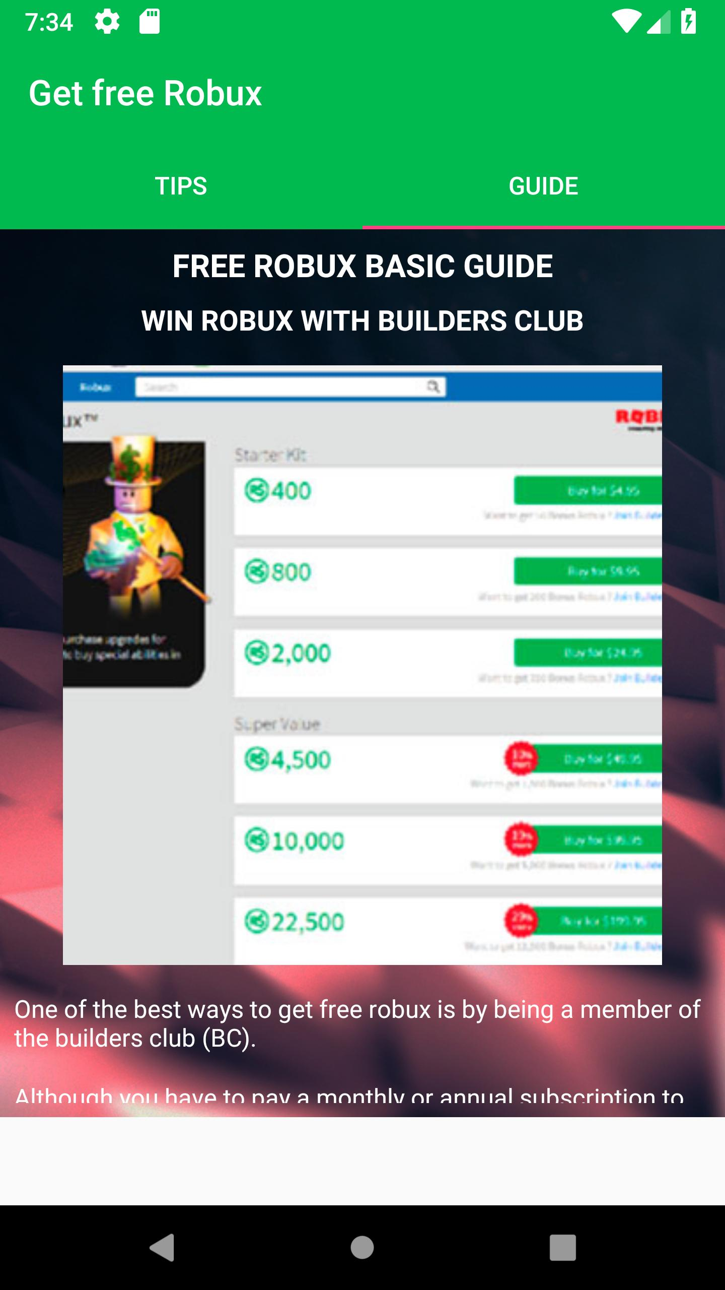 Free Robux Now Earn Robux Free Today Tips 2018 For Android