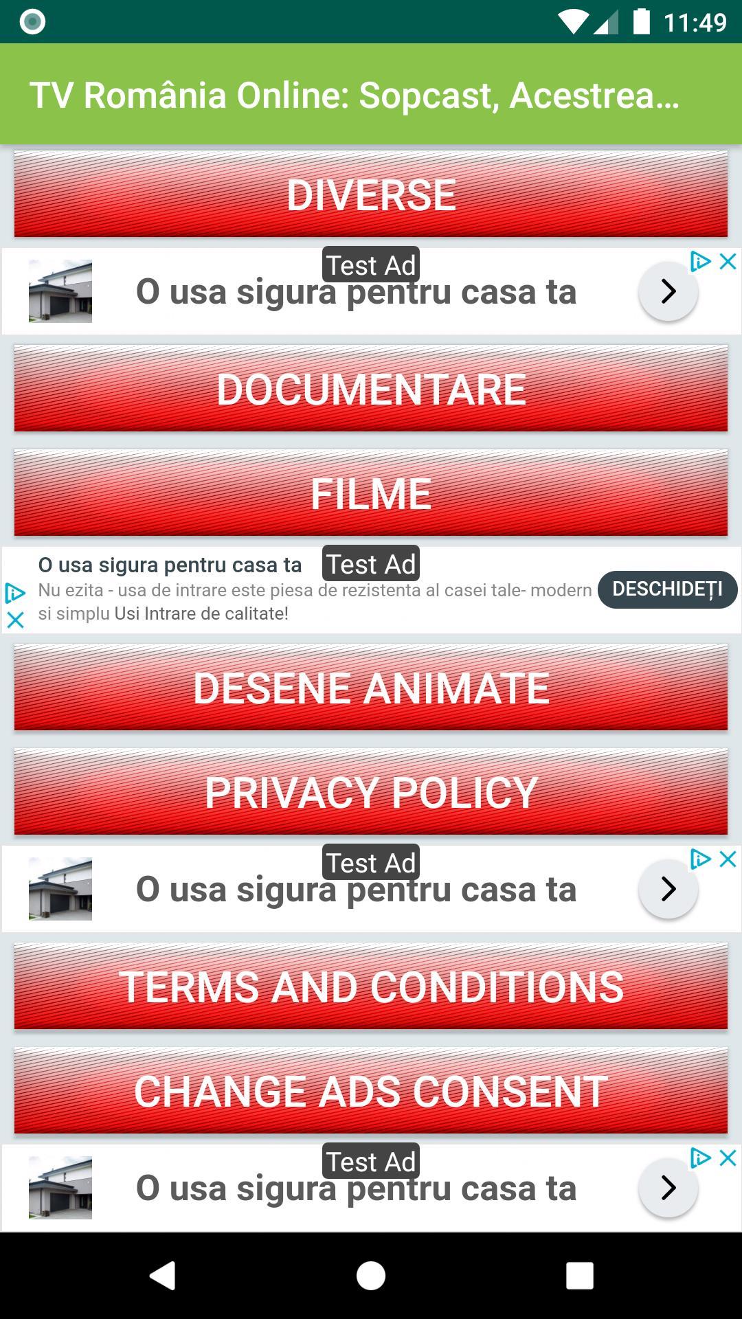 TV Romania Online Sopcast, Acestream, HTTP Streams for
