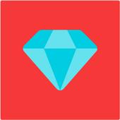 diamond via id icon