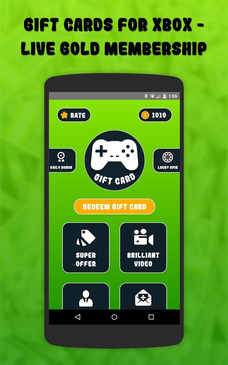Gift Cards for Xbox - Live Gold Membership for Android - APK