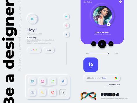 FusiOn for KWGT captura de pantalla 7