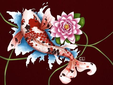 Koi Fish Art HD Wallpaper poster