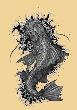 Koi Fish Art HD Wallpaper screenshot 1