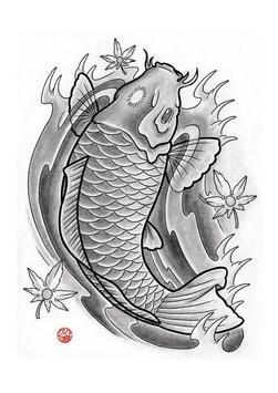 Koi Fish Art HD Wallpaper screenshot 2