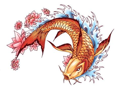 Koi Fish Art HD Wallpaper screenshot 4