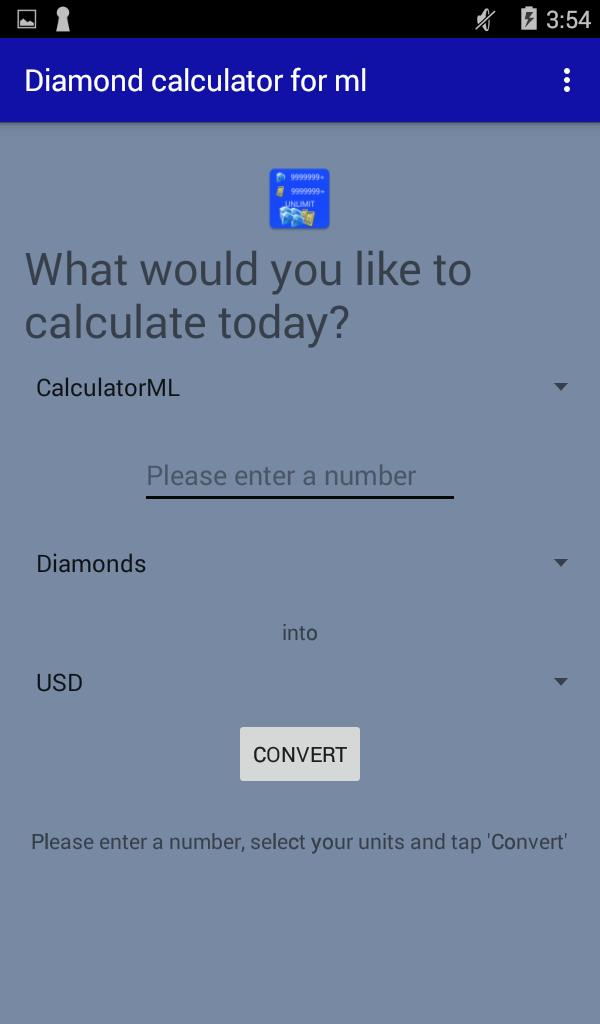 Diamond Calculator for Mobile Legends 2019 for Android - APK