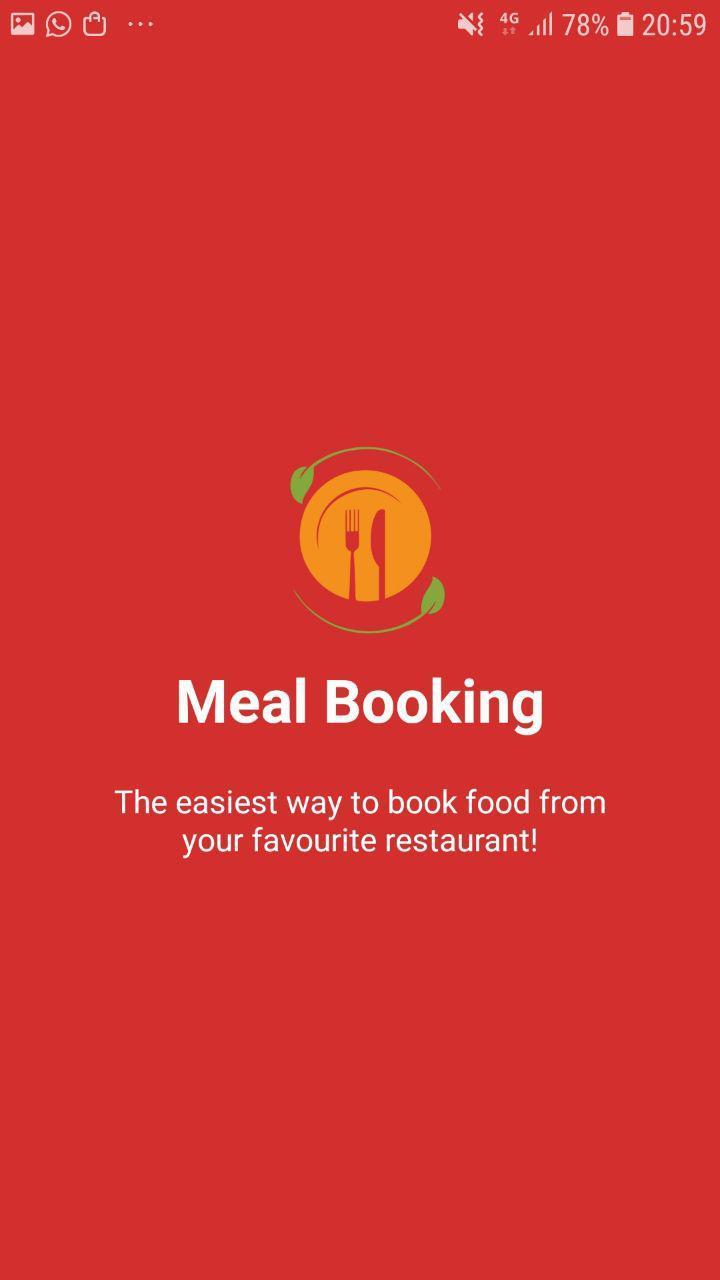 Mess Meal Booking poster