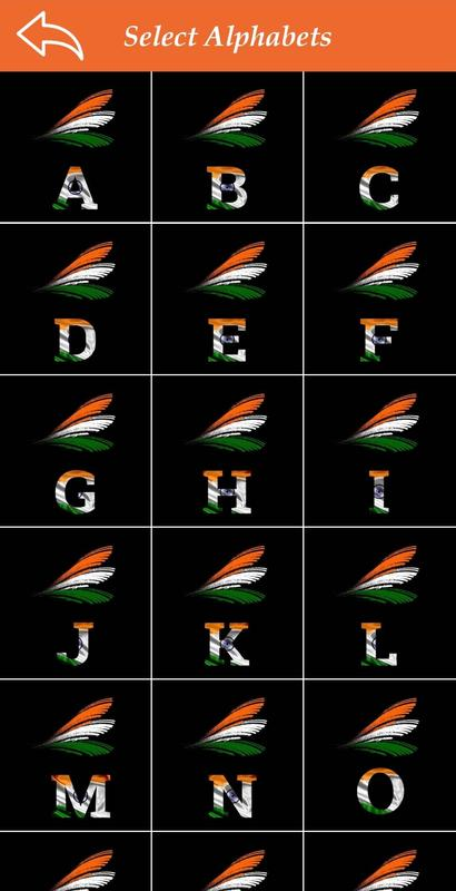 Indian Flag Alphabet Lettername Wallpaperdp For Android Apk Download