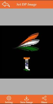 Indian Flag Alphabet Letter/Name Wallpaper/DP screenshot 2