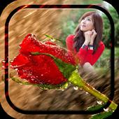 Rainy Rose Photo Frame icon