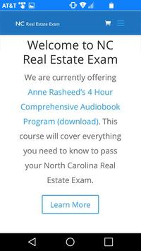 NC Real Estate Exam poster