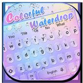 Colorful Waterdrop Keyboard Theme icon