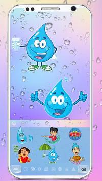 Colorful Waterdrop Keyboard Theme screenshot 2