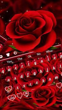 Classic Red Rose Keyboard screenshot 1