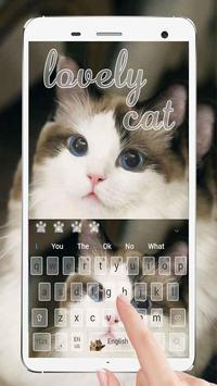 Cute Cat Keyboard poster