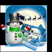 3D Cute Christmas Snow Man Keyboard Theme icon