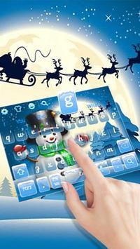 3D Cute Christmas Snow Man Keyboard Theme screenshot 1