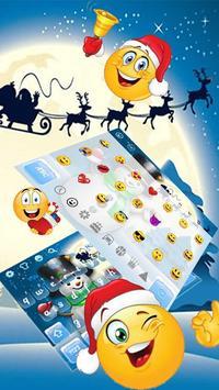 3D Cute Christmas Snow Man Keyboard Theme screenshot 2