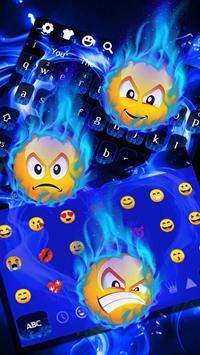 Blue Flame Love Heart Keyboard screenshot 2