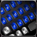 Cool Blue Metal Keyboard APK