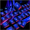 Cool Blue Red Light Keyboard icono