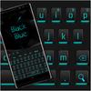 블랙 블루 라이트 키보드 아이콘