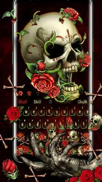 Bloody Rose Skull Gravity keyboard पोस्टर