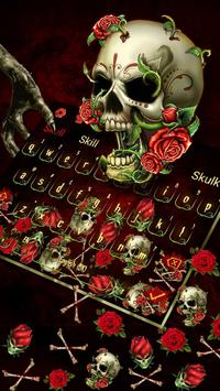 Bloody Rose Skull Gravity keyboard स्क्रीनशॉट 1