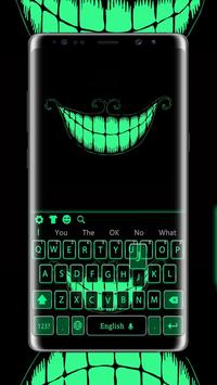 Green Fluorescent Smile Keyboard poster