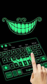 Green Fluorescent Smile Keyboard screenshot 1