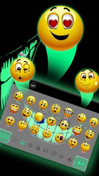 Green Fluorescent Smile Keyboard screenshot 2