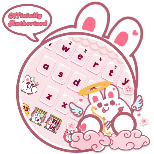 Cute Rabbit Da Ji Tu Keyboard