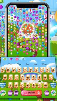 3D Sweet Candy Live Blast Keyboard Theme🍬🍭 screenshot 1