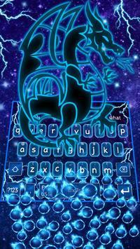 🐲Neon Dragon Gravity Keyboard Theme🐲 screenshot 1
